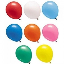 "Palloncini diametro 15 cm - 6"" colori assortiti pastello - 100 pz"