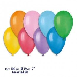 Palloncini A70 - Colori Pastello assortiti - 100 pz