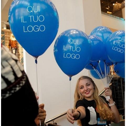 1000 Palloncini diametro 30 cm - 12 inch personalizzati con logo brand marchio per eventi aziendali