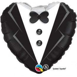Palloncino per matrimonio a forma di cuore vestito abito Sposo