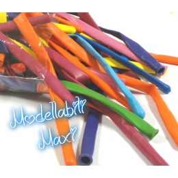 """100 Palloncini modellabili MAXI da sagomare per sculture a forma di animali,spade-Slim Ball Maxi """"360Q"""" colori assortiti"""