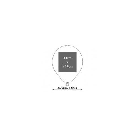 Palloncini diametro 30 cm -12 inch personalizzati con logo brand marchio per eventi aziendali, promozioni  - 500 pezzi