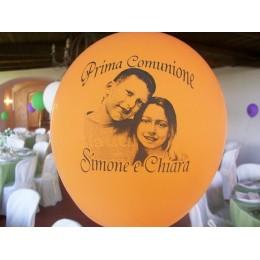 100 palloncini classici (diam. 30 cm) personalizzati 1 lato - 1 colore