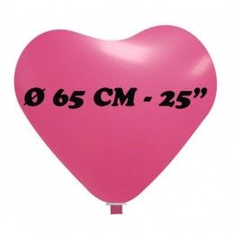 palloncino cuore gigante diametro 65 cm