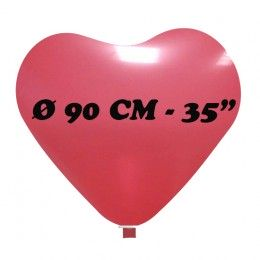 palloncino cuore gigante diametro 90 cm