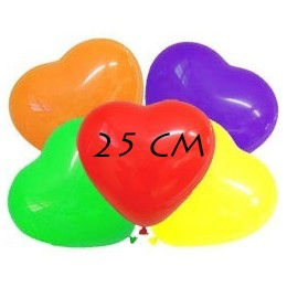palloncini a forma di cuore 25 cm