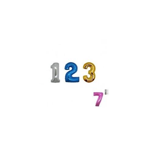"Numeri 18 cm - 7"" mylar"